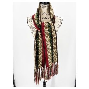 Maurices 100% Acrylic Knitted Scarf with Fringe